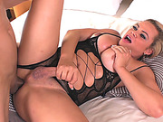 Busty tgirl Camilla Carvalho and nasty guy anal boning