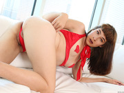 Lovely shemale Alexa puts on a hot solo show as she masturbate smoothly