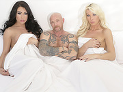 Hot ts Aubrey and Chanel gets in a threesome fuck