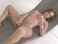 TS Gabrielli Bianco Plays With Her Hard Cock