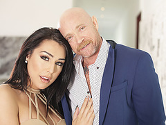 Gorgeous ts Chanel Santini makes a wet tight pussy cum