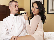 Hot shemale Chanel Santini in an anal fucking scene