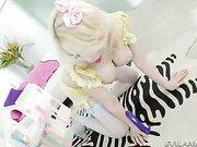 blonde shemale Sarina Valentina And Spencer Fox clip2
