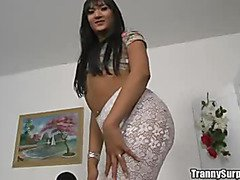 Brazilian shemale Bebel hard fucking clip1