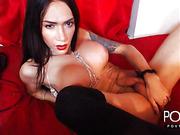 Self sucking big tits tgirl online