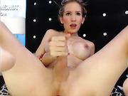 Blonde tgirl masturbates big cock online