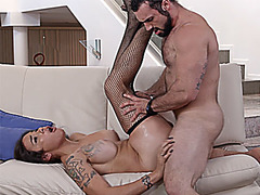 Realtor shemale with big tits anal fucked by a client