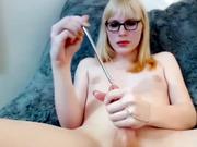 Sexy blonde tgirl cock sounding online