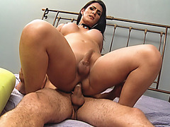 Tgirl watches her shemale lover Deborah cheating on her
