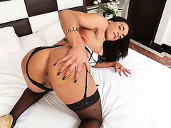 Hottie ladyboy Melyna is into anal sex with his hunky bf