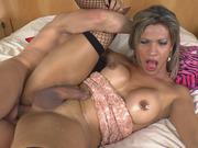 TS Hottie Leticia Andrade Assbangs A Stud