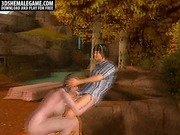 3D tranny sucks cock and gets fucked in the woods
