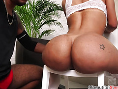 Tight ass Eloisa Lyron gets ass pounded well by big cock