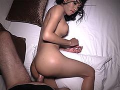 Young big dick ladyboy blowjob and bareback anal poking