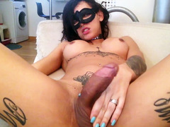 Masked big tits dickgirl tgirlcamz.com