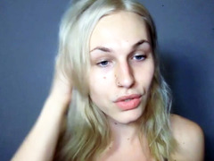 Blonde femboy masturbates on POVTS.com Cam