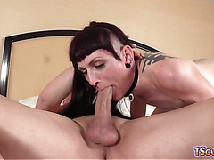 Hot shemale hardcore anal with creampie