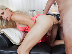 TS Nikki Vicious asshole screwed by bfs big cock