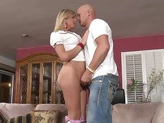 Shemale eagerly sucks dick so she can get fucked