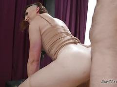 Tranny model and photographer anal fucking