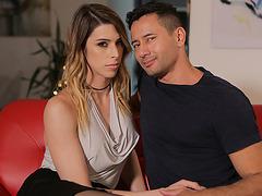 Ladyboy Casey Kisses sucks his stepbro Gabriel Dalessandros cock