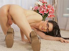 Stunning Transgirl Stefani Special fucks hard while wanking
