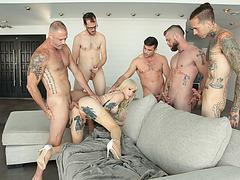 Blonde Tbabe Lena Kelly enjoys fucking hot studs hard dick