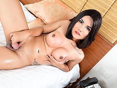 Sexy Tgirl Skye in hot solo masturbation with her new toy