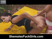 Rochele shemale fucks gal action