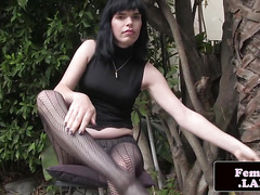 Amateur shemale shows off her tight asshole