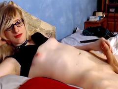 Blonde Sissy dick cumshot webcam TScumshot.com