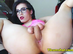 Shemale fucks ass with own big dick omg - TScumshot.com cams