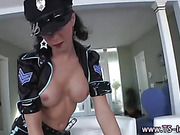 Tranny cop face sits and dominates