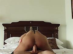 Big ass ladyboy shemale got anal banged in POV video