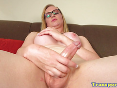 Amateur spex trannie wanks hard rod solitary