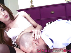 asian tgirl spunk drenched