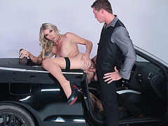 Hot Tranny Aubrey Kate gets her tight ass slammed by Pierce Paris huge dick