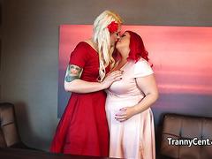 Tranny bangs BBW redhead babe