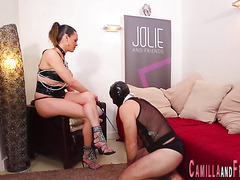 transexual mistress gets a bj