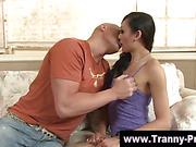 Asian tranny sucks fetish guys cock
