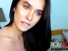 Epic blue eyes shemale Teen POVTS.COM webcam