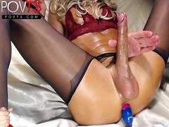 Crossdresser huge dick fetish stockings POVTS.COM webcams