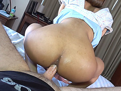 Pretty ladyboy shemale with a round ass felt a guys cock