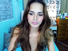 Cute ladyboy hair dick smiling joy - Tgirlcamz.com