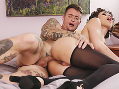 Gorgeous latina shemale throats and analed by bfs friend