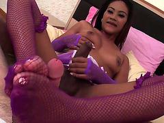 Blowjob And Footjob From Hung Ladyboy Jasmine