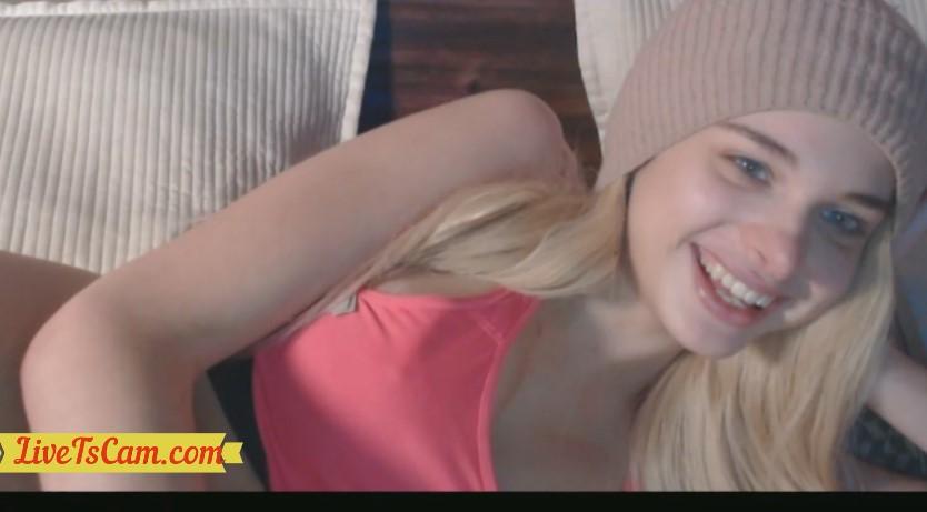 Busty Blonde Solo Webcam