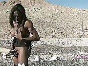 skinny big dick black shemale masturbating outdoor