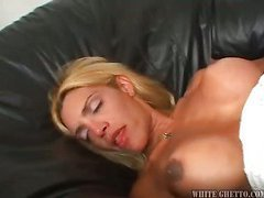 cheap blondie shemale is getting fucked