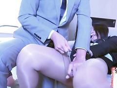 Japanese bdsm tranny dominates males bum
